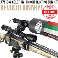 Wicked Lights A75iC 4-Color-In-1 Green, Red, White, 850nm Infrared Night Hunting Light Kit