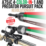 Wicked Lights A75iC 4-Color-In-1 Green, Red, White, 850nm Infrared Night Hunting Light Kit Predator Pursuit Pack