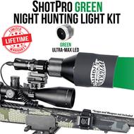 Wicked Lights ShotPro Extreme Range Green Night Hunting Light Kit