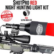 Wicked Lights ShotPro Extreme Range Red Night Hunting Light Kit