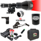 Wicked Lights ShotPro Extreme Range Red Night Hunting Light Kit contents