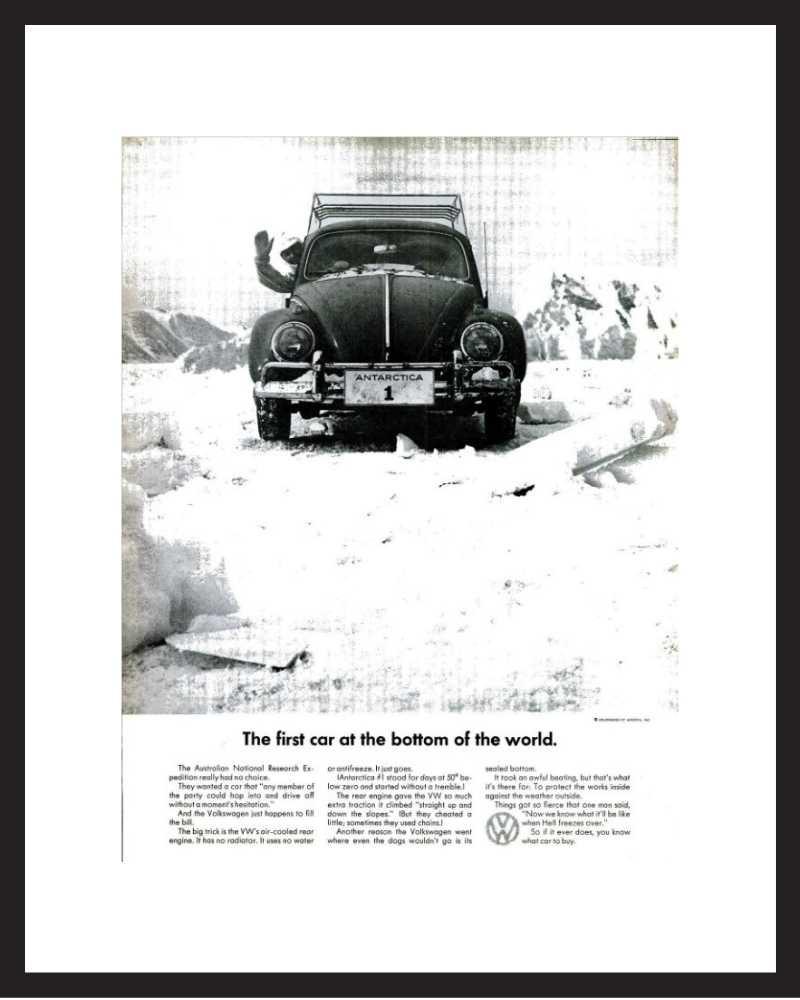 LIFE Magazine - Framed Original Ad - 1965 VW Bug