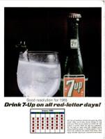 IFE Magazine - Framed Original Ad - 1965 7-Up Ad