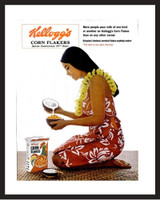 LIFE Magazine - Framed Original Ad - 1965 Kellogg's Cornflakes