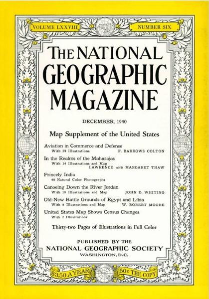 December 1940 - Canoeing Down the Jordan River