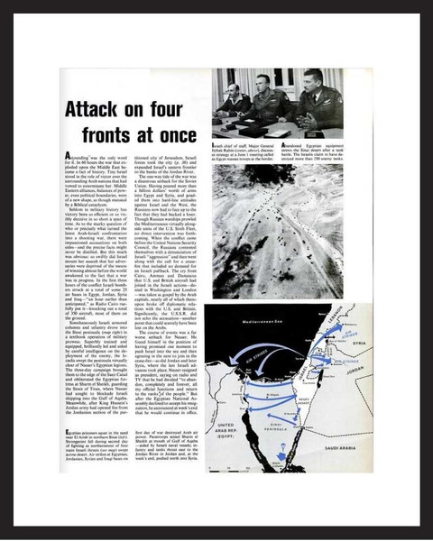LIFE Magazine - Framed Historic Page - 1967 Six Day War