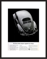 LIFE Magazine - Framed Original Ad - 1960 VW Bug - Italian Designer