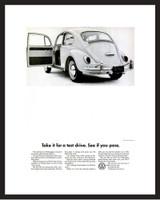 LIFE Magazine - Framed Original Ad - 1965 VW Bug Ad