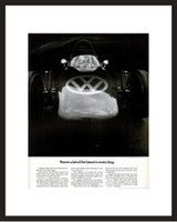 LIFE Magazine - Framed Original Ad - 1967 VW Beast in Every Bug Ad