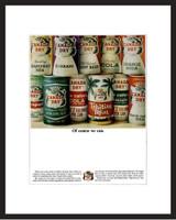 LIFE Magazine - Framed Original Ad - 1964 Canada Dry Soft Drinks Ad