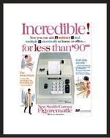 LIFE Magazine - Framed Original Ad - 1964 Electric Calculator