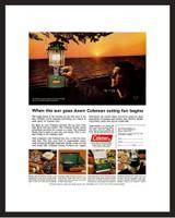 LIFE Magazine - Framed Original Ad - 1964 Coleman Lantern