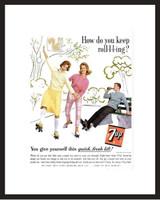 LIFE Magazine - Framed Original Ad - 1962 7-Up Ad