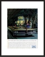 LIFE Magazine - Framed Original Ad - 1964 Pontiac Bonneville Ad