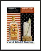 LIFE Magazine - Framed Original Ad - 1968 Gordon's Gin Ad