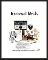 LIFE Magazine - Framed Original Ad - 1968 Kodak Instamatic Camera
