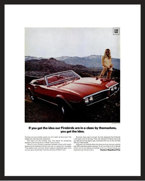 LIFE Magazine - Framed Original Ad - 1967 Pontiac Firebird Ad