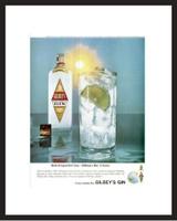 LIFE Magazine - Framed Original Ad - 1965 Gilbey's Gin Ad