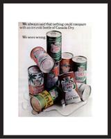 LIFE Magazine - Framed Original Ad - 1965 Canada Dry Soft Drinks Ad