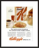 LIFE Magazine - Framed Original Ad - 1962 Kellogg's Special K