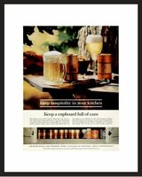 LIFE Magazine - Framed Original Ad - 1962 Cans Ad