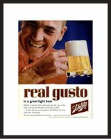 LIFE Magazine - Framed Original Ad - 1962 Schlitz Beer