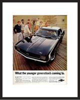 LIFE Magazine - Framed Original Ad - 1969 Camaro