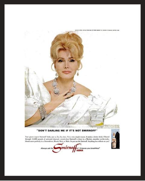 Framed Original Ad - 1967 Smirnoff Vodka Ad