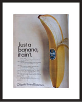 LIFE Magazine - Framed Original Ad - 1967 Chiquita Banana Ad