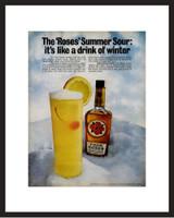 Framed Original Ad - 1968 Four Roses Whiskey Ad