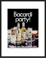 LIFE Magazine - Framed Original Ad - 1968 Barcardi Party Ad