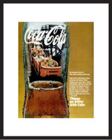 LIFE Magazine - Framed Original Ad - 1968 Coke Ad