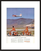 LIFE Magazine - Framed Original Ad - 1964 Honda Trail Bike Ad