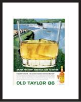 LIFE Magazine - Framed Original Ad - 1964 Old Taylor Bourbon