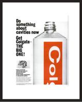 LIFE Magazine - Framed Original Ad - 1964 Colgate Toothpaste Ad