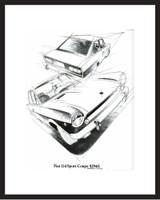 LIFE Magazine - Framed Original Ad - 1969 Fiat Sport Coupe Ad