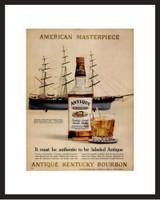 LIFE Magazine - Framed Original Ad - 1962 Antique Bourbon Ad