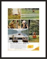 LIFE Magazine - Framed Original Ad - 1964 Kodak Camera Ad