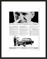LIFE Magazine - Framed Original Ad - 1960  SIMCA Ad