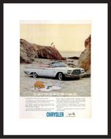 LIFE Magazine - Framed Original Ad - 1960 Chrysler Convertible Ad