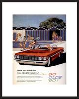 LIFE Magazine - Framed Original Ad - 1960 Oldsmobile Ad