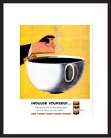 LIFE Magazine - Framed Original Ad - 1960 Sanka Coffee Ad