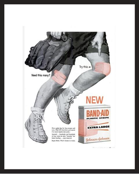 LIFE Magazine - Framed Original Ad - 1960 Band-Aid Ad