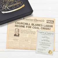 Historic Newspaper in Elegant Keepsake Case