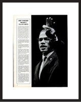 LIFE Magazine - Framed Historic Page - Malcolm X in 1963