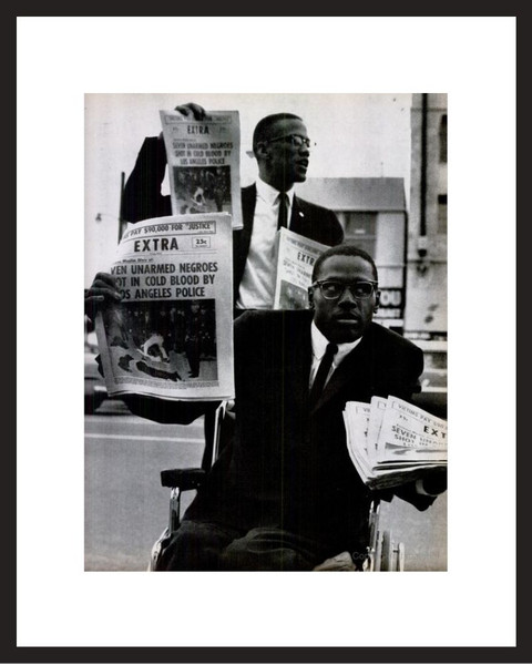 LIFE Magazine - Framed Historic Photograph - Malcolm X