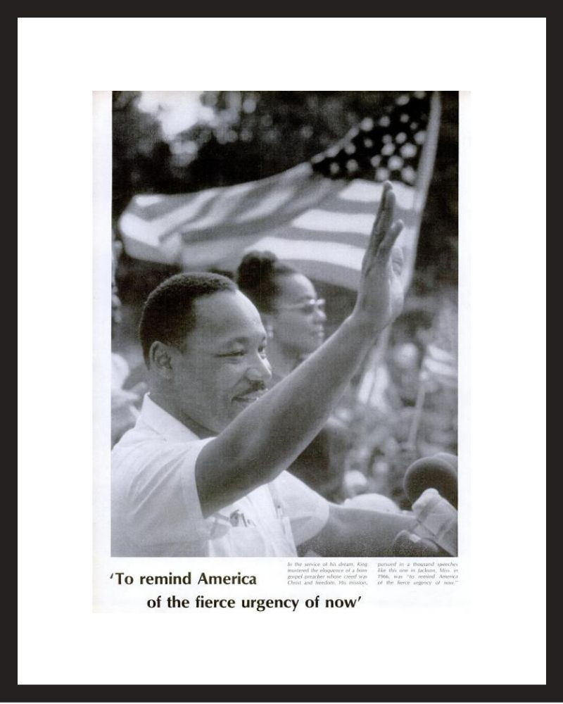 LIFE Magazine - Framed Historic Photograph - Martin Luther King