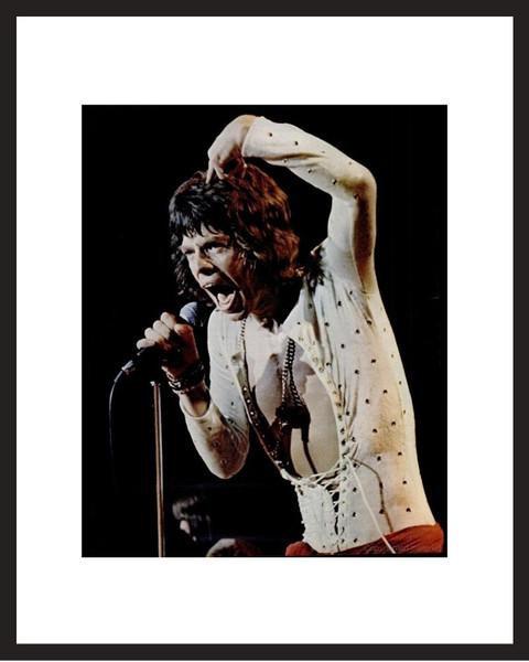 LIFE Magazine - Framed Historic Photograph - Mick Jagger Rolling Stones
