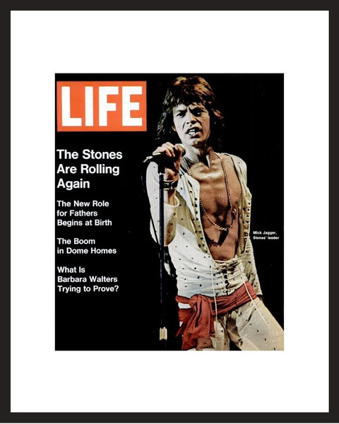 LIFE Magazine - Framed Historic Cover - Mick Jagger in 1972