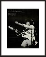LIFE Magazine - Framed Historic Photograph - Jimi Hendrix in 1968